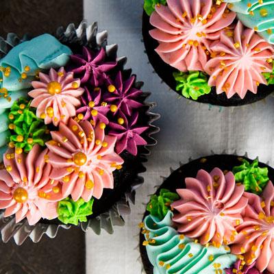 Cupcakes fleuris - Les Ah! de Line - pâtisseries gourmandes