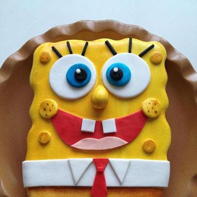 Gâteau de fête d'anniversaire Bob l'éponge