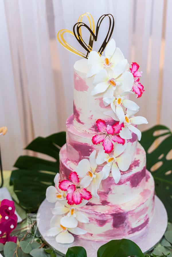 Gâteau de mariage - Orchidées
