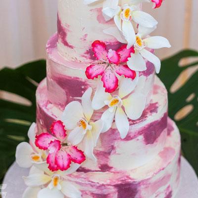 gateau de mariage rose - pâtisserie gourmande - Les Ah de Line