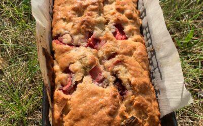 Ma recette du pain aux fraises du Québec et à la rhubarbe